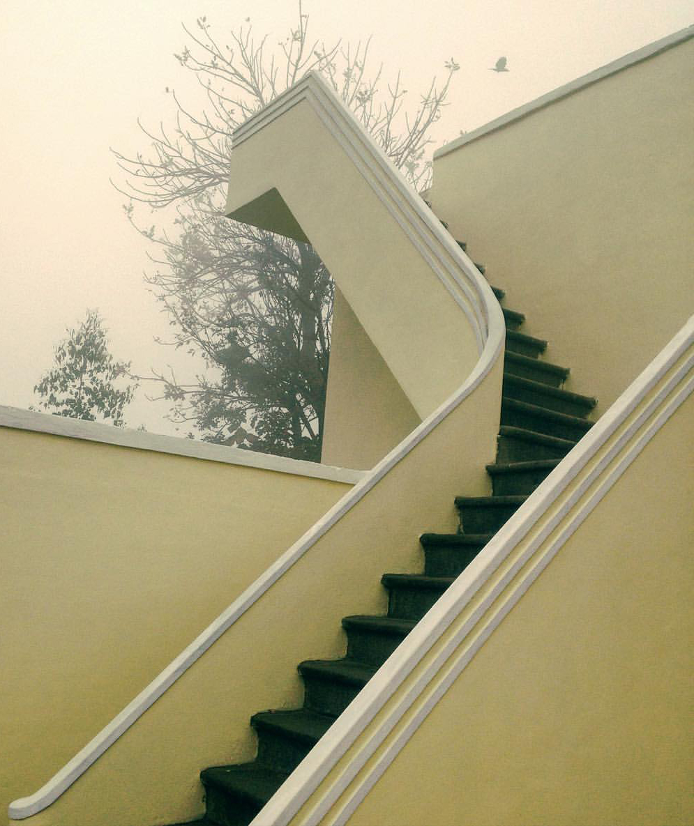 Stairs to the roof of the 1930's heritage residency building
